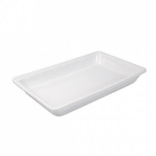 Porcelán GN 1/1-es edény 65 mm mély 8,8 L, 530 x 325 x 65 mm