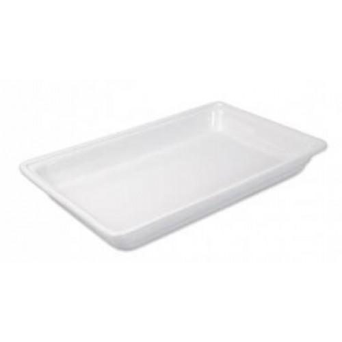 Porcelán GN 1/1-es edény 20 mm mély 2,5 L, 530 x 325 x 20 m